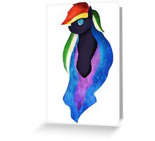 nightmare rainbow dash  Greeting Card