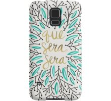 Whatever Will Be, Will Be (Turquoise & Gold) Samsung Galaxy Case/Skin