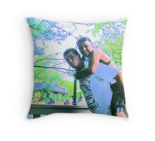Matt and Kaylee at Dollywood Throw Pillow