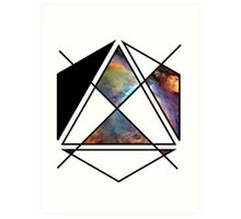 space shapes Art Print