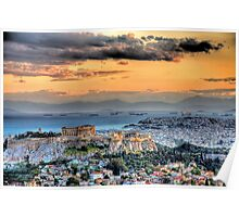A warm afternoon in Athens Poster