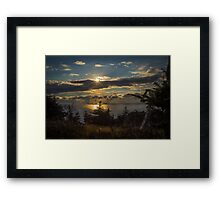 Skyline Trail Sundown Framed Print