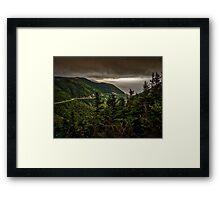 Stormy Skyline Framed Print