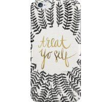 Treat Yo Self – Gold & Black iPhone Case/Skin