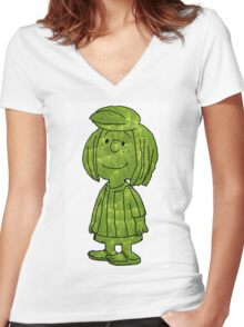 Peppermint Leaf Patty! Women's Fitted V-Neck T-Shirt