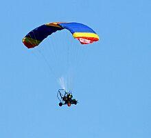Aerochute over Yan Yean by Pauline Tims