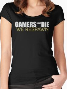 Gamers Don't Die We Respawn T Shirt Women's Fitted Scoop T-Shirt