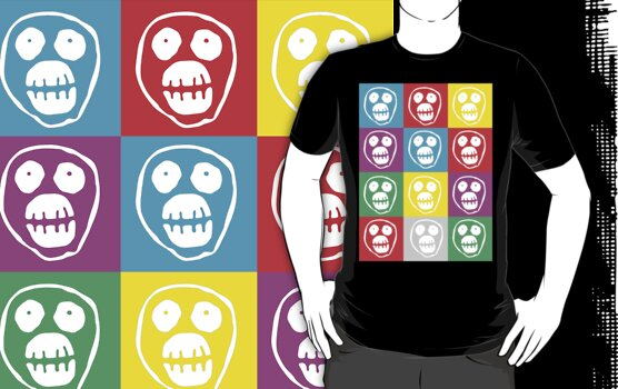 Mighty Boosh Face Warhol Style - White by DementedFerret