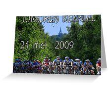 Affiche juniorenkoers Kerniel Belgie Greeting Card