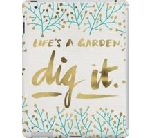Dig It – Gold & Turquoise iPad Case/Skin