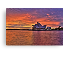 Greeting The Morn - Moods Of A City - The HDR Series Canvas Print