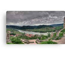 Looking down on Duernstein Canvas Print
