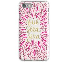 Whatever Will Be, Will Be (Pink & Gold) iPhone Case/Skin