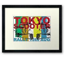 Tokyo Scooter Rally Poster  Framed Print