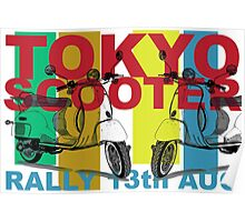 Tokyo Scooter Rally Poster  Poster