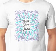 Whatever Will Be, Will Be (Navy & Turquoise) Unisex T-Shirt
