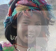 Girl in Tibet, color and overlays by Vicktorya Stone