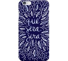 Whatever Will Be, Will Be (Navy Palette) iPhone Case/Skin