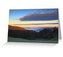 Valley fog Greeting Card