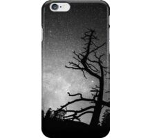 Astrophotography Night Black and White Portrait View iPhone Case/Skin