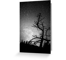 Astrophotography Night Black and White Portrait View Greeting Card
