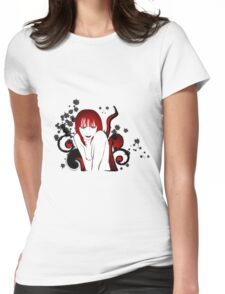 attractive smiling woman Womens Fitted T-Shirt