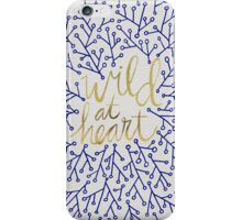 Wild at Heart – Navy & Gold iPhone Case/Skin