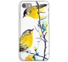 Yellow Birds on a Branch iPhone Case/Skin