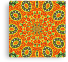 Kaleidoscope of Bold Orange Gazanias  Canvas Print