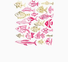 Pink & Gold Inked Fish Unisex T-Shirt