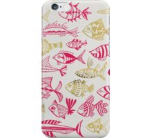 Pink & Gold Inked Fish iPhone Case/Skin