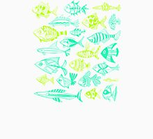 Green Inked Fish Unisex T-Shirt