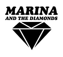 MARINA & THE DIAMONDS LOGO Photographic Print