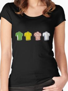 Colours of the TDF Women's Fitted Scoop T-Shirt