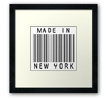 Made in New York Framed Print