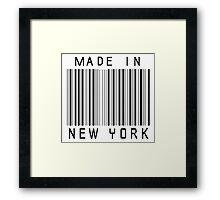 Made in New York Framed Print