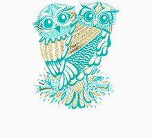 Owls – Gold & Turquoise Unisex T-Shirt