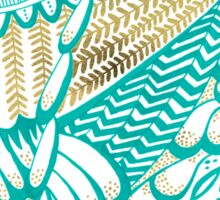 Owls – Gold & Turquoise Sticker