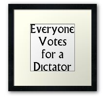 The Prisoner - Everyone Votes For a Dictator Framed Print