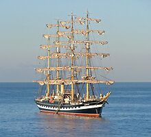 Tall Ship at anchor by extranyero
