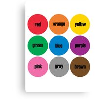 Colors BRIGHTS! English Canvas Print