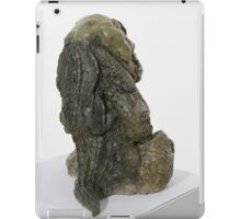 Crocodilian sculpture (coloured back) iPad Case/Skin