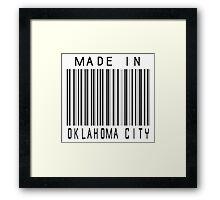 Made in Oklahoma City Framed Print