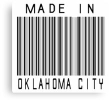 Made in Oklahoma City Canvas Print