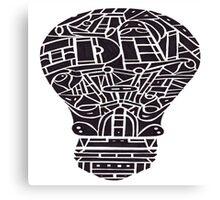 Idea Light Bulb Canvas Print
