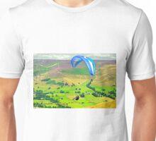 Paragliding off Mam Tor - 01  Unisex T-Shirt