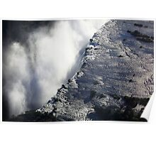 Above the edge at Victoria Falls Poster