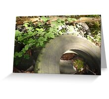 Tyred waste Greeting Card