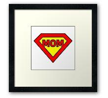 Super mom Framed Print