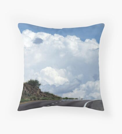 A Drive into the Clouds Throw Pillow
